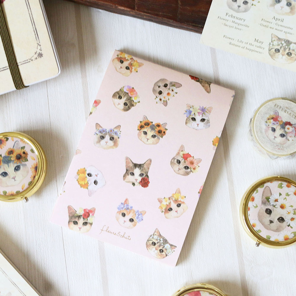 メモパッド「fleurs&chats~book~」