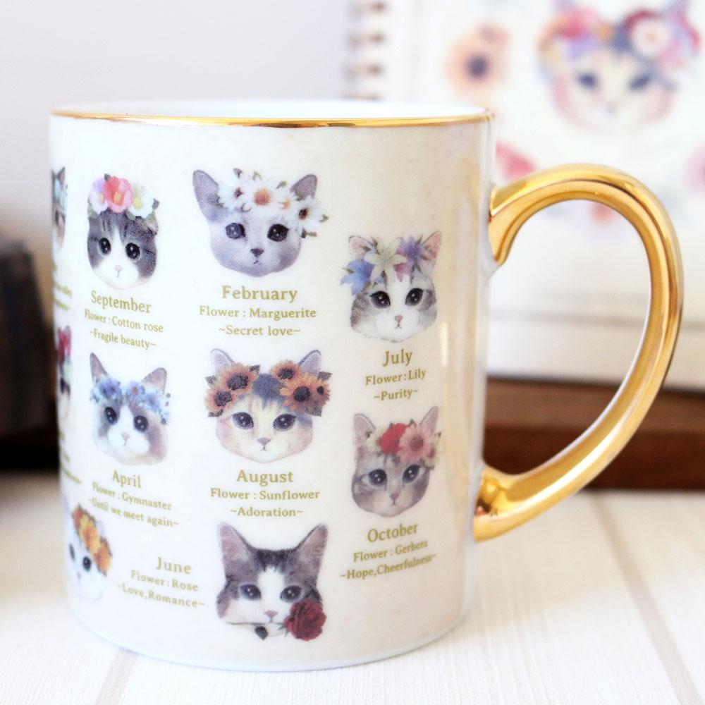 マグカップ ねこ fleurs&chats