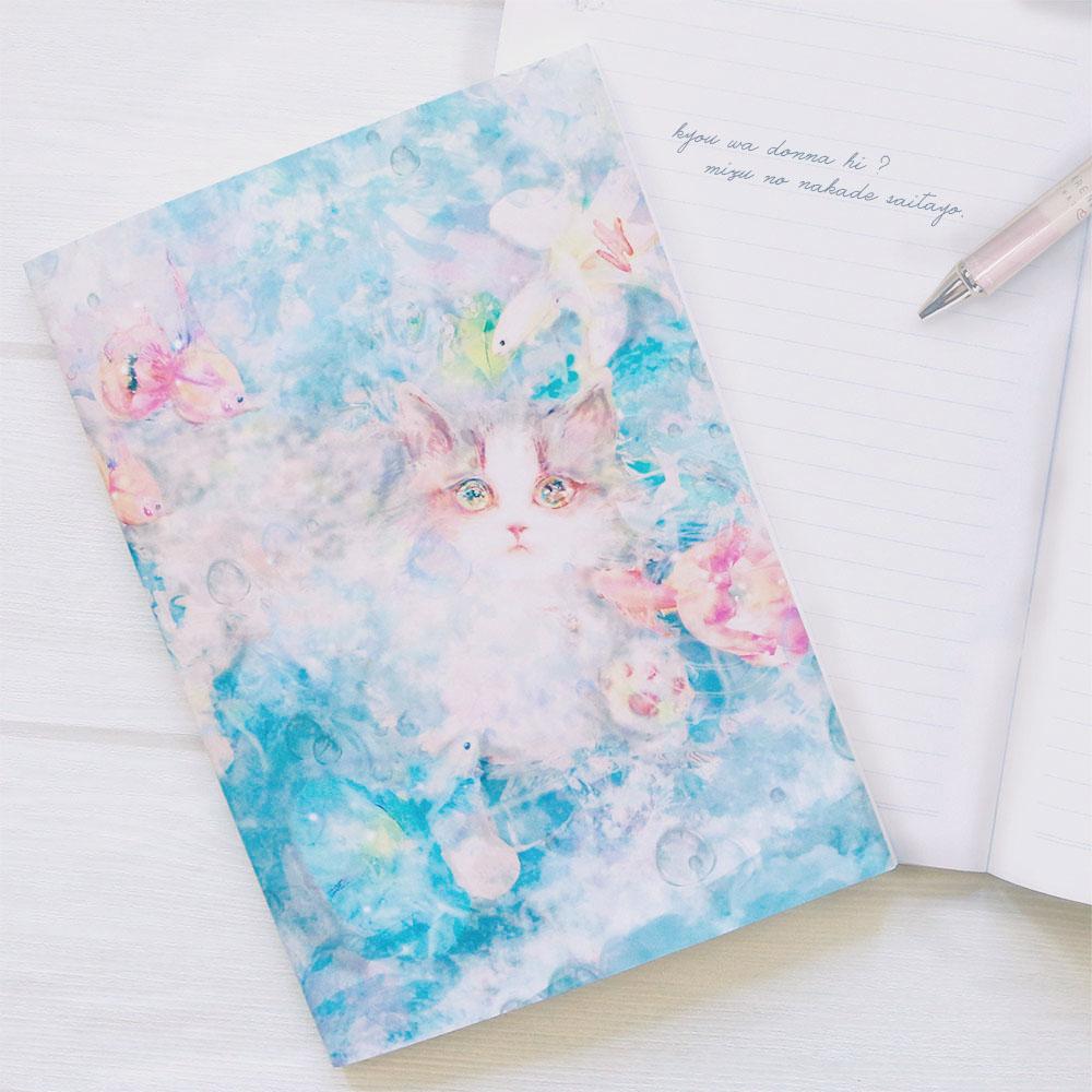 中綴じノート 「kyou wa donna hi?~水のなかで咲いたよ~」