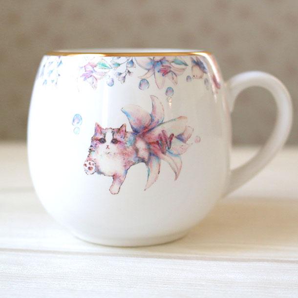 「ashita donna hi? 〜ネコユリヒメ〜」マグカップ